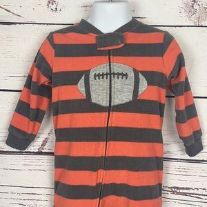 Carter's Striped Football Footie Pajamas